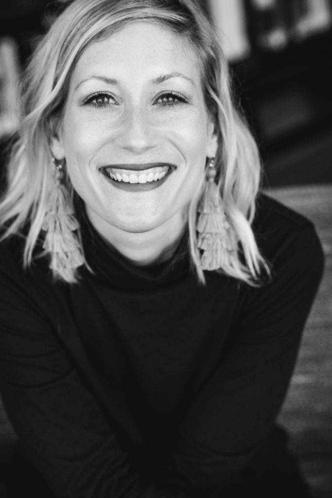 This is a headshot of the guest blogger, Jess Hagemann. It is in black and white.